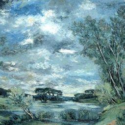 Cours d'eau dans un paysage boisé (1930)
